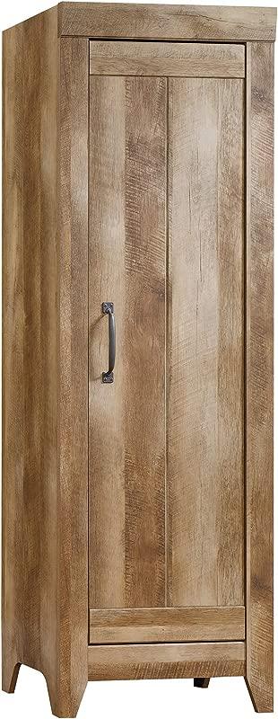 Sauder 418137 Adept Storage Narrow Storage Cabinet L 22 60 X W 16 77 X H 70 98 Craftsman Oak Finish