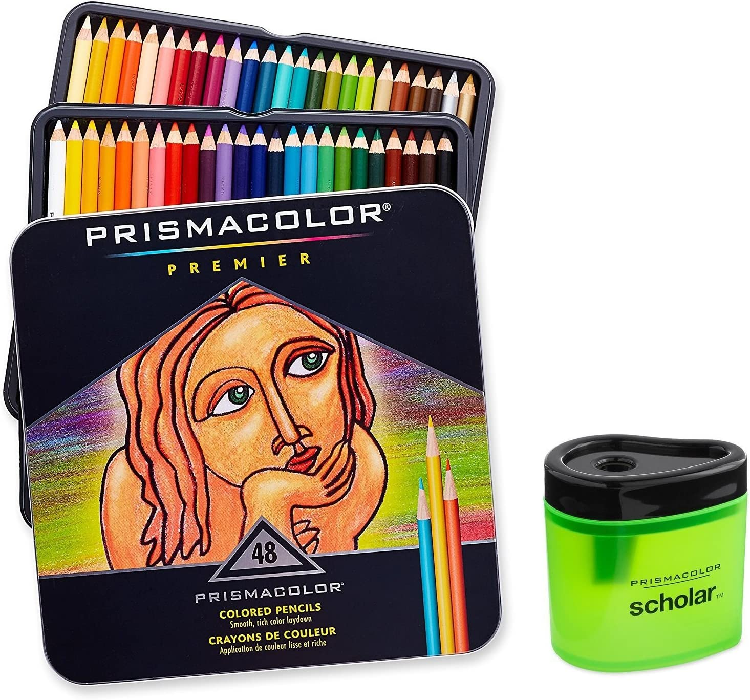 Prismacolor Premier 3598T Soft Core Colored Assorted Pencils Pack of 48 New