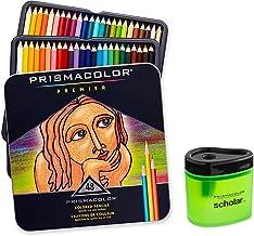 Prismacolor Premier Soft Core Colored Pencil, Set of 48 Assorted Colors (3598T) + Prismacolor Scholar Colored Pencil Sharp...
