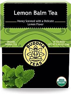 Organic Lemon Balm Tea, 18 Bleach-Free Tea Bags – Caffeine Free Tea Improves Cognitive Function, Aiding Digestion, and Calming Effects, No GMOs
