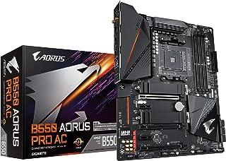 GIGABYTE B550 AORUS PRO AC (AM4 AMD/B550/ATX/Dual M.2/SATA 6GBb/s/USB 3.2 Gen 2/Intel Dual Band 802.11AC WiFi /2.5 GbE LA...