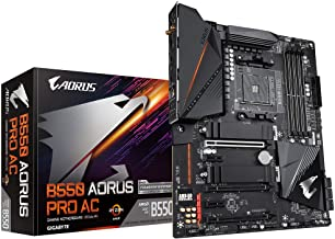 GIGABYTE B550 AORUS PRO AC (AM4 AMD/B550/ATX/Dual M.2/SATA 6Gb/s/USB 3.2 Gen 2/Intel Dual Band 802.11AC WiFi/2.5 GbE LAN/P...