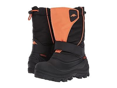 Tundra Boots Kids Quebec-Wide (Toddler/Little Kid/Big Kid) (Black/Orange) Kids Shoes