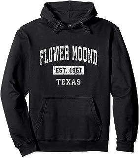Flower Mound Texas TX Vintage Established Sports Design Pullover Hoodie