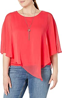 AGB Women's Twist Back Popover Top