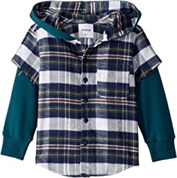 Super Soft Long Sleeve Flannel Spencer Hoodie (Toddler/Little Kids/Big Kids)