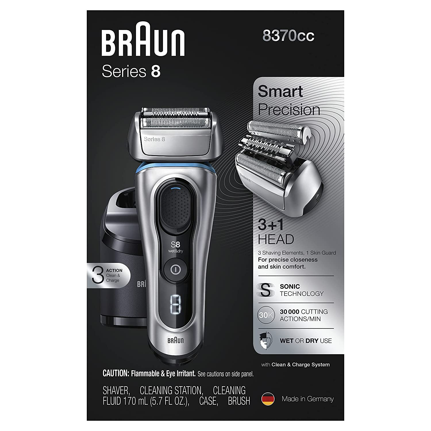 Braun Series 8 8370cc Next Quantity limited Recharge Electric Shaver Fashionable Generation