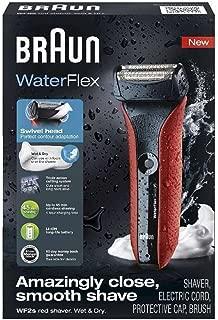 Braun 00000 WaterFlex WF2s Electric Shaver, 5, Red