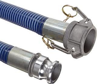 """Goodyear EP Cold Blue PVC Suction/Discharge Hose Assembly, 2"""" Aluminum Cam And Groove Connection, 29mmHg Vacuum Rating 80 ..."""