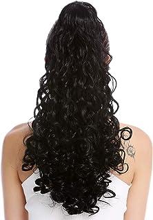 comprar comparacion WIG ME UP- 19AXL-V-1 Extensión de pelo coleta larga voluminosa muy rizada negra 50 cm