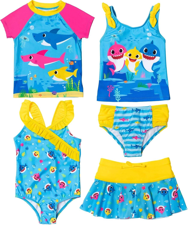 Baby Shark Swimsuit Set: San Diego Sales of SALE items from new works Mall Rash Guard One-Piece Tankini Skort