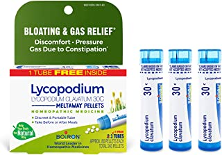 Boiron Lycopodium Clavatum 30c Homeopathic Medicine for Bloating and Gas Relief, 3 Tubes