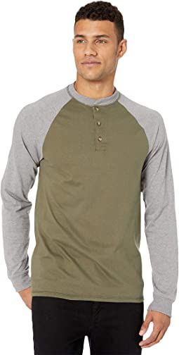 Beefy-T Long Sleeve Color Block Henley