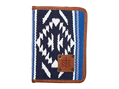 STS Ranchwear Durango Serape Magnetic Wallet (Navy Blue/White/Light Blue) Bags