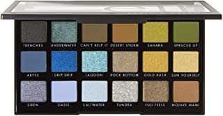 e.l.f. Cosmetics E.l.f. earth & ocean eyeshadow palette, 18 ultra-pigmented shades, 0.634 Ounce, 0.634 Ounce