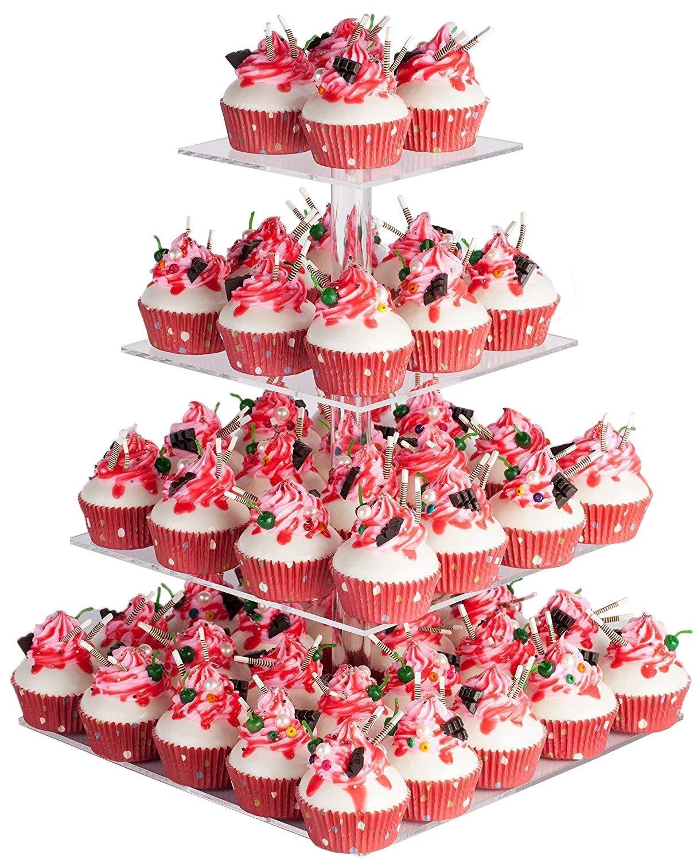 8 Tier Maypole Acrylic Cupcake Stand Cupcke Tower Cupcake Tree USA