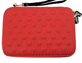 AZ-Cover Tablet Semi-rigid EVA Bubble Foam Case (Red) With Wrist Strap For nabi Jr. nick Jr. Edition Tablet + One Capacitive Stylus Pen