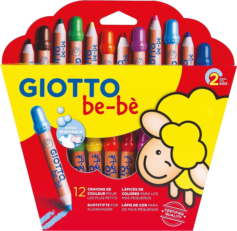 Giotto Be-Bè Súper Lápices Estuche 12 Uds + Sacapuntas