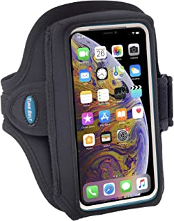 Tune Belt Armband for iPhone 11 Pro, X Xs 8 7 with OtterBox Defender / LifeProof Case - Fits Galaxy S8 S9 S10e with Large Case - For Running & Working Out - Sweat-Resistant