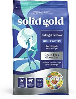 Solid Gold High Protein Dry Dog Food; Barking at the Moon Grain-Free with Real Beef; All Life Stages