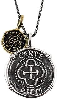 Mens Neckalce Mens Jewelry Carpe Diem Necklace Men's Necklace Men's Gift Men Jewelry Carpe Diem Pendant Sterling Silver Coin Necklace Jewelry For Men Gold Coin Necklace Coin Pendant Necklace For Men
