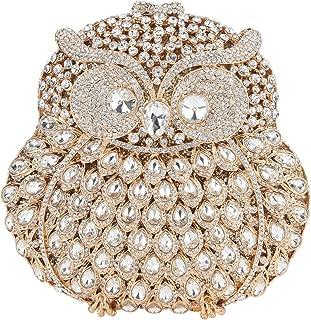 Owl Purse With Chain Clutch Evening Bag Crystal Handbag