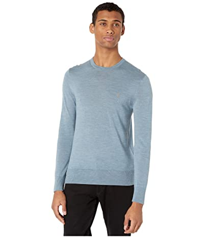 AllSaints Mode Merino Crew Sweater (Haze Blue Marl) Men