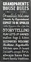 P. Graham Dunn Grandparents House Rules Grandkids Welcome Chalk Look 16 x 8 Wood Wall Art Sign Plaque