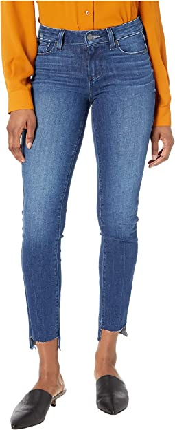 Verdugo Ankle Jeans w/ Uneven Raw Slit Hem in Naples