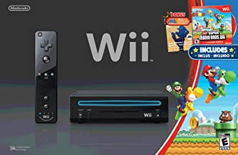 $1099 » Wii Black Console with New Super Mario Brothers Wii and Music CD