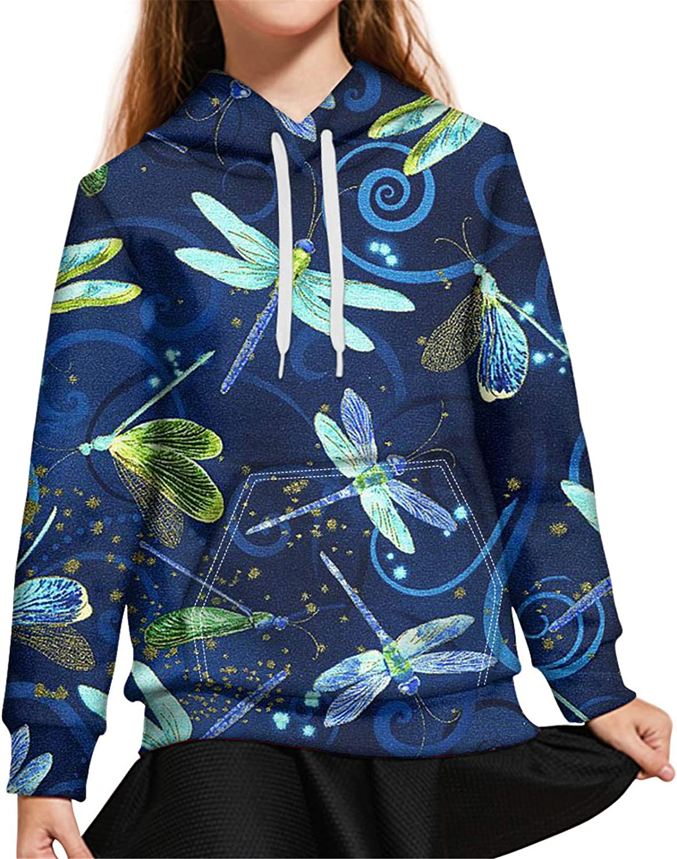 ZFRXIGN Kids Hoodies for Boys Girls 6-16 Hooded Sweatshirt with Pocket Drawstring Sweater Long Sleeve