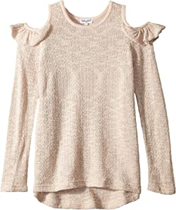 Cold Shoulder Sweater (Big Kids)