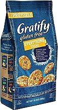 Gratify Gluten Free Pretzel Thins Everything Vegan GF Pretzel Crisps, 10.5oz Bag