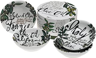 Rosanna Olive Oil Set of 4 Dipping Dishes, Gift-boxed