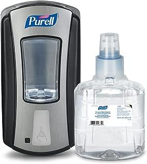 PURELL LTX-12 Advanced Green Certified Hand Sanitizer Foam Starter Kit, 1 – 1200 mL EcoLogo Certified Sanitizer Refill + 1 – LTX-12 Chrome/Black Touch-Free Smart Dispenser - 1904-SMRT-AMZCB