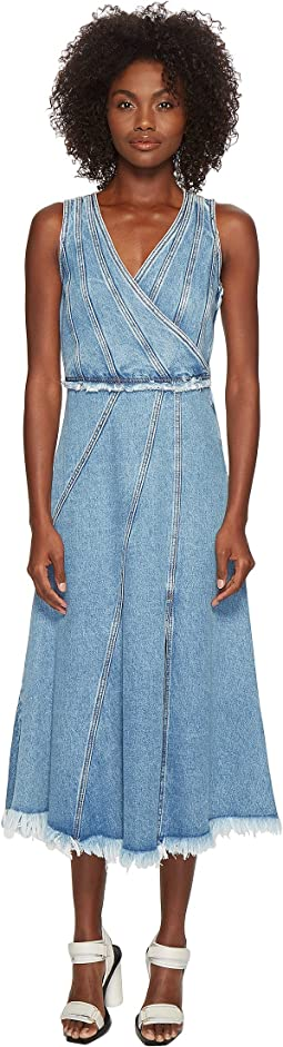 Sportmax Rally Sleeveless Denim Dress