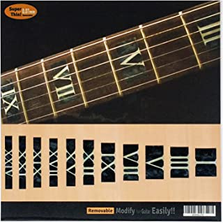 Fretboard Markers Inlay Sticker Decals for Guitar & Bass - Roman Numeral Block - BP
