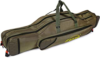 UNISTRENGH Fishing Rod Carrier Reel Case Bags Organizer Travel Carry Holder Pole Storage for Fishing and Traveling