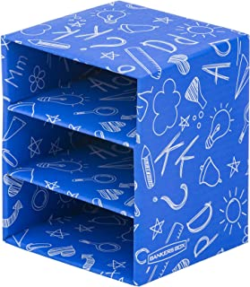 Bankers Box Classroom Stackable 3-Shelf Cube Organizers, 4 Pack (3385302)