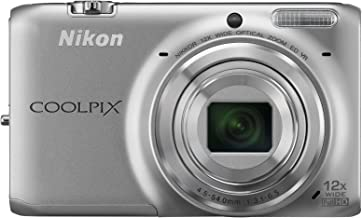 Nikon Coolpix S6500 Wi-Fi Digital Camera with 12x Zoom (Silver)