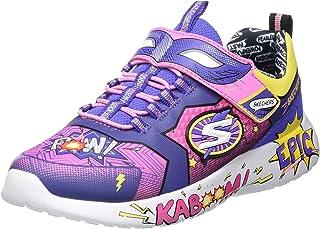 Skechers Kids, Girls Hero, Gore and Strap, Super Squishy Memory Foam Sport Shoe Sneaker
