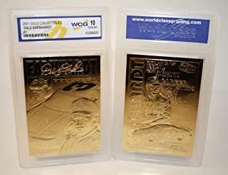 DALE EARNHARDT 2001 23KT Gold Card Sculptured GM GOODWRENCH #3 - Graded GEM MINT