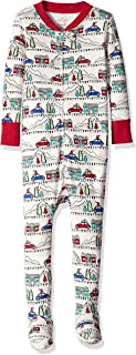 Moon and Back Kids' Organic One-Piece Footed Pajamas
