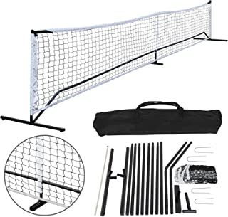 BBBuy 22FT Portable Pickleball Net Stand Set W/Carry Bag Steel Poles Outdoor