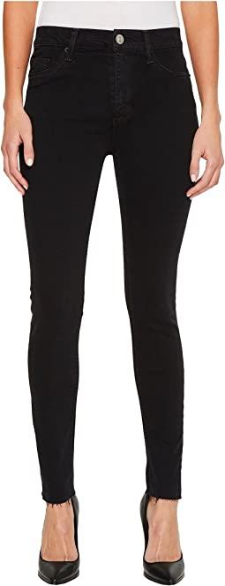 Barbara High-Waist Ankle Raw Hem Skinny Jeans in Maniac