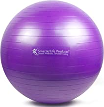 SmarterLife Exercise Ball for Yoga, Balance, Stability - Fitness, Pilates, Birthing, Therapy, Office Ball Chair, Classroom...