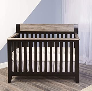Suite Bebe Hayes 4-in-1 Convertible Crib, Coffee/Weathered Stone