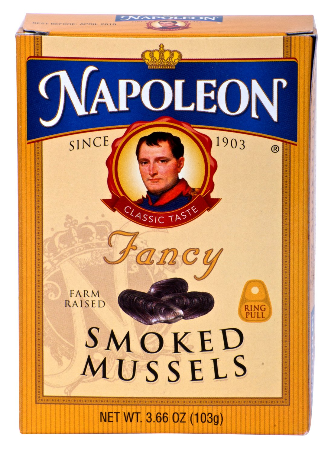 Napoleon FANCY SMOKED MUSSELS 3.66oz (4 Pack)