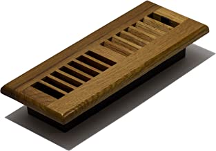 Decor Grates 3-Inch by 10-Inch Wood Louver Floor Register, WL310-M