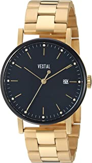 Vestal 'Sophisticate 36 Metal' Swiss Quartz Stainless Steel Dress Watch, Color Gold-Toned (Model: SP36M13.3GVX)